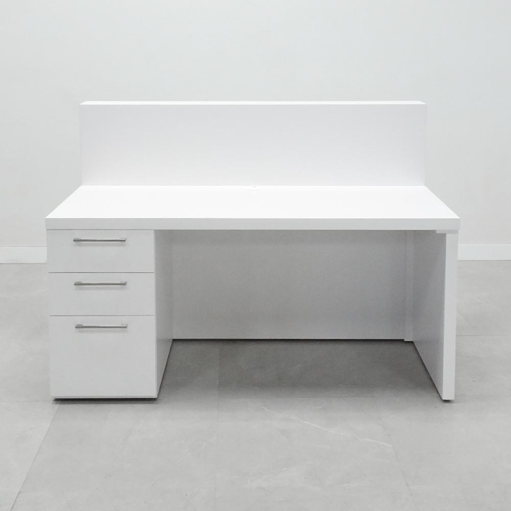 60 In. Dallas Straight Reception Desk with Storage -Stock #5