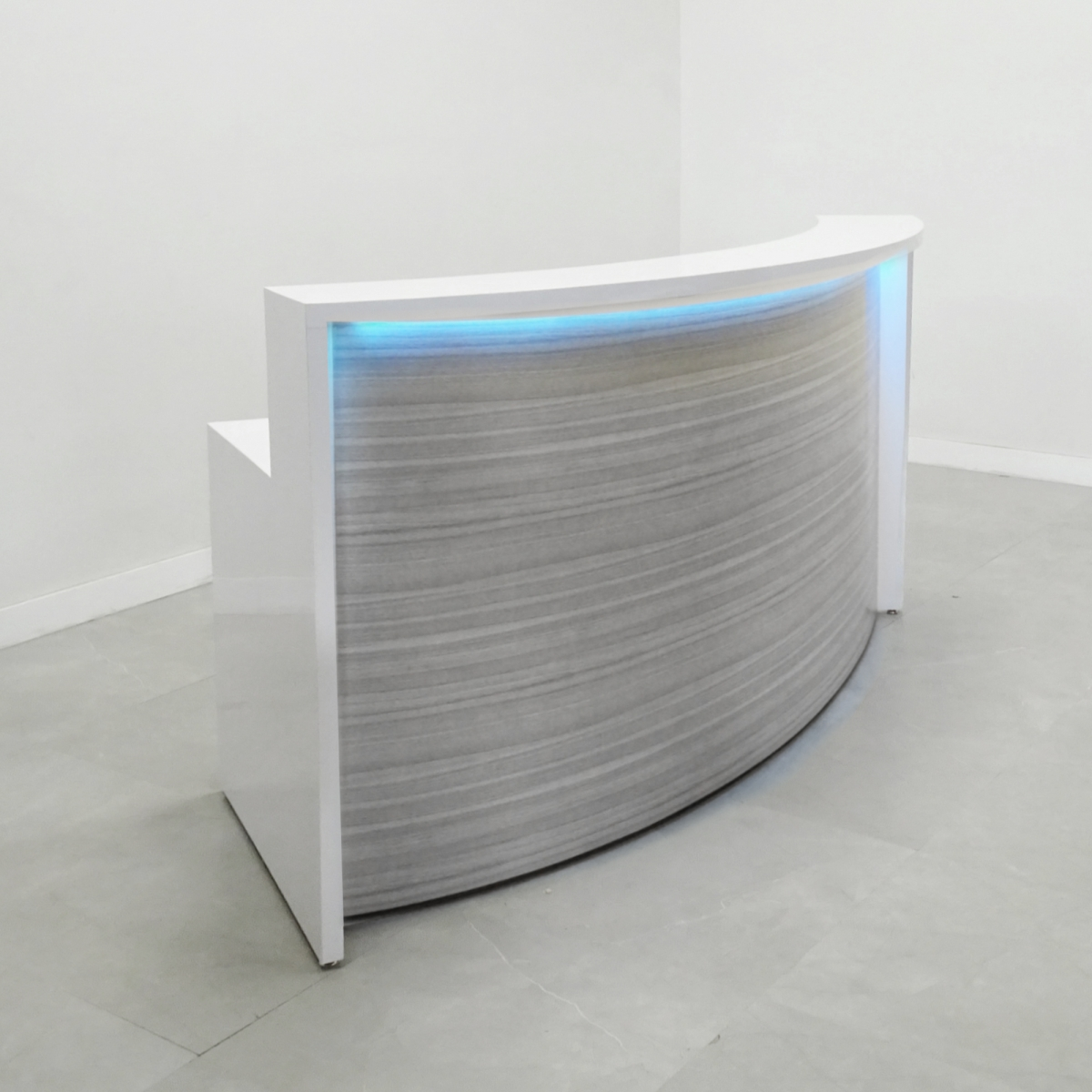 84 In. Seattle Curved Reception Desk - Stock #40