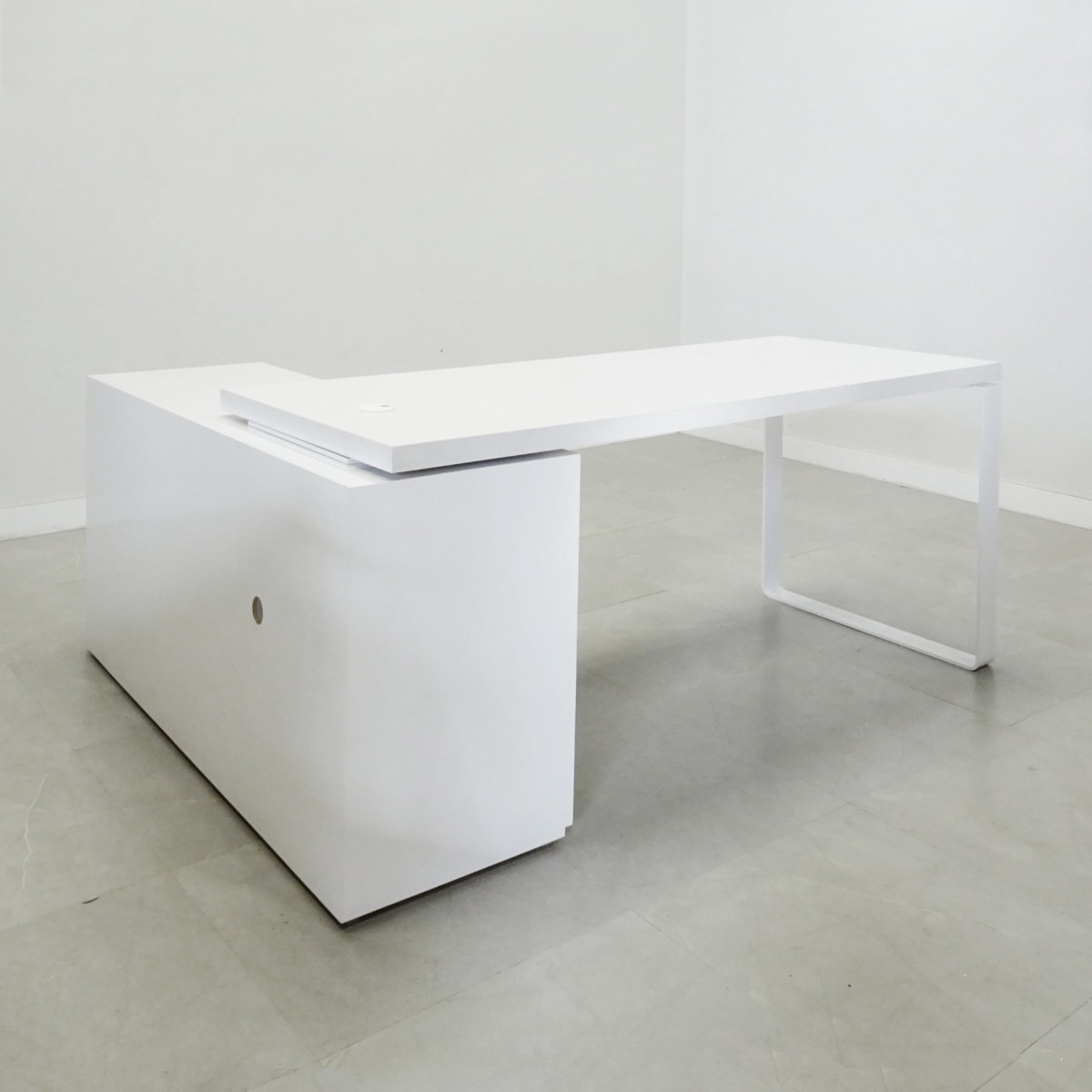 Aspen Laminate Desk with Credenza