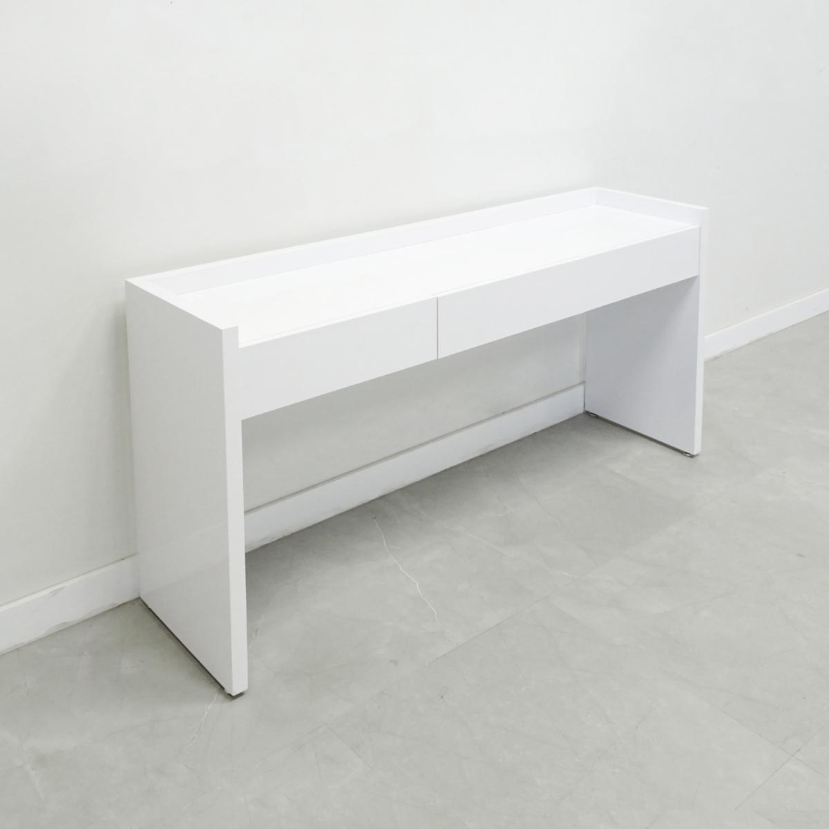Aspen Console Server Table - In White Gloss Laminate