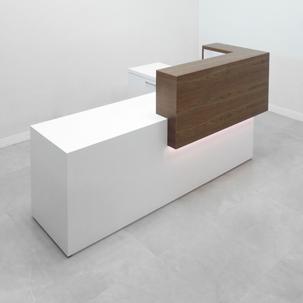 88 In. Los Angeles Reception Desk with Storage - Stock #35