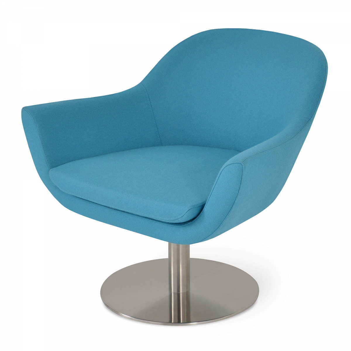Madison Lounge Chair, Swivel Base