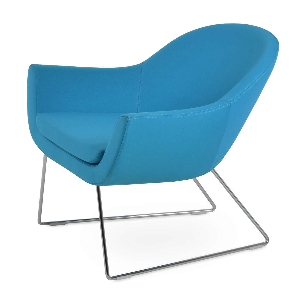 Madison Lounge Chair, Wire Legs