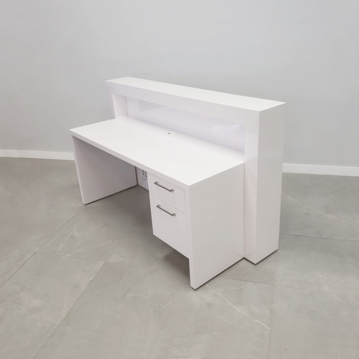 72 In. New York Straight Shape Reception Desk with Storage