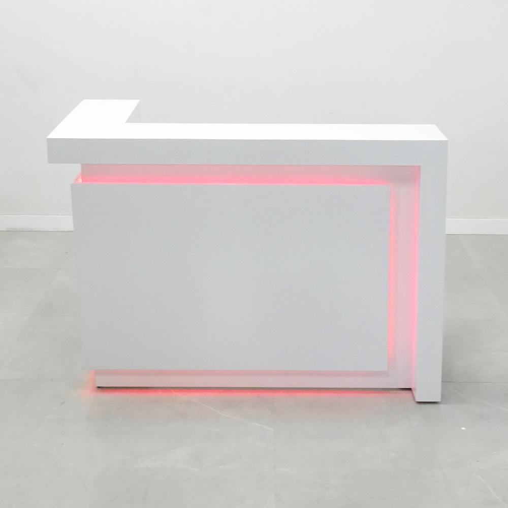 60 In. New York L Shape Reception Desk- Stock #216
