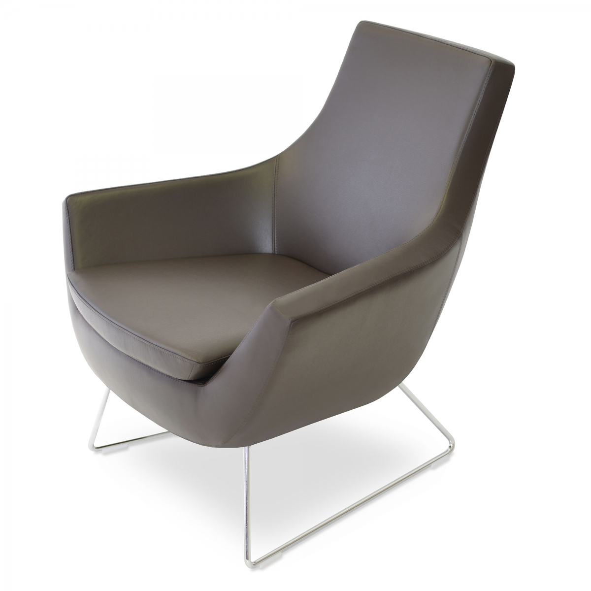 Rebecca Lounge Chair, Wire Base