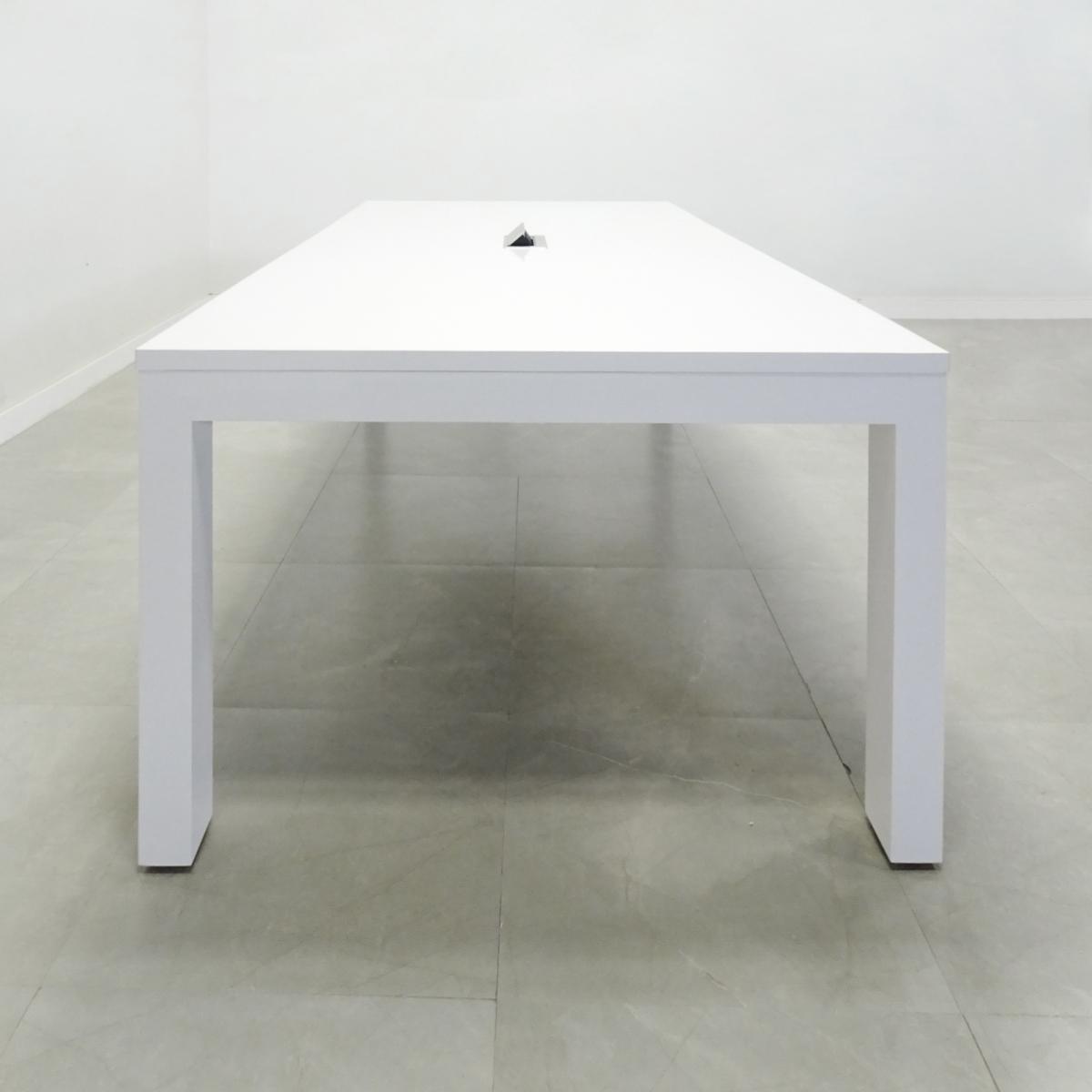 Boston Conference Table in White Matte Laminate