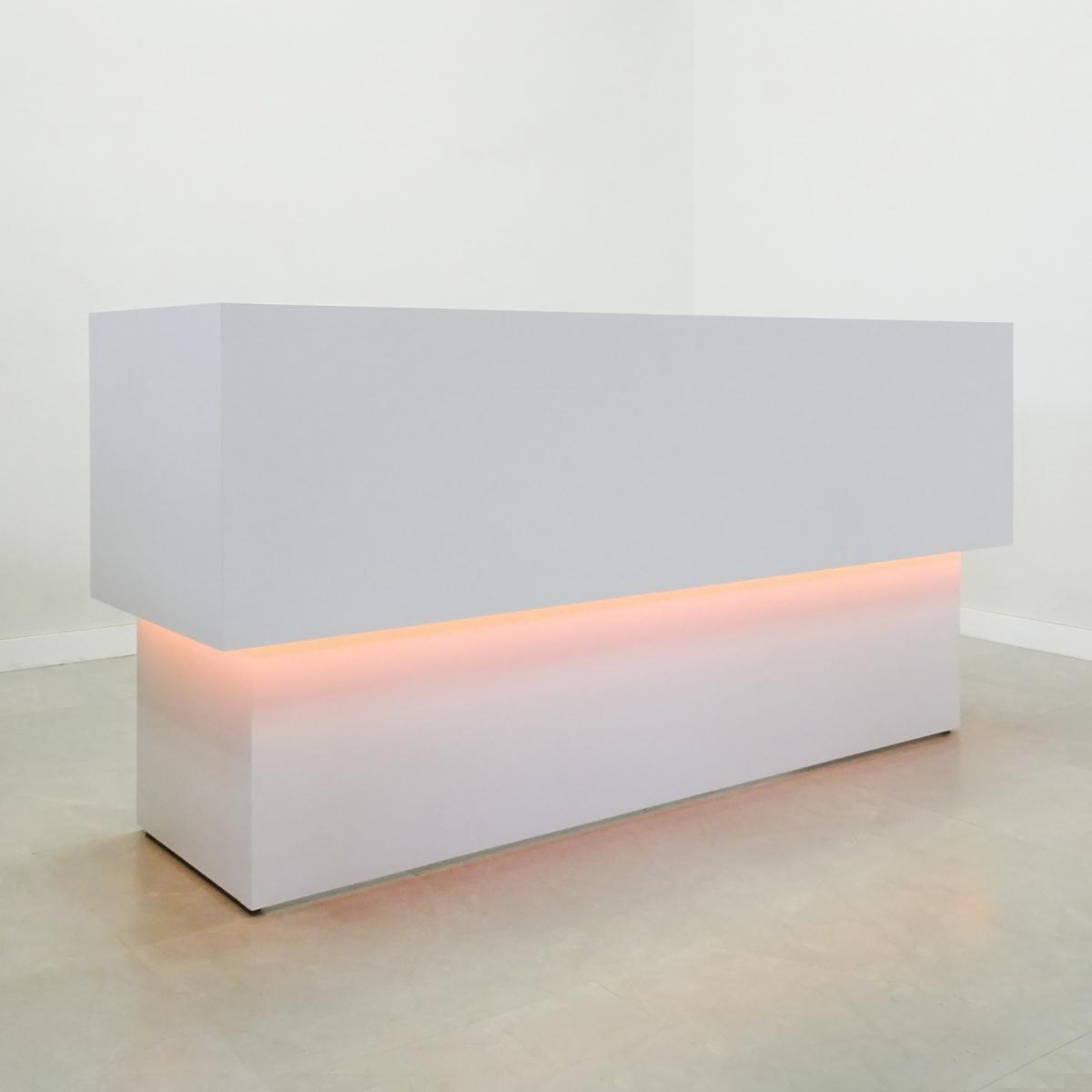 92 In. San Francisco U-Shape Reception Desk White Gloss Laminate