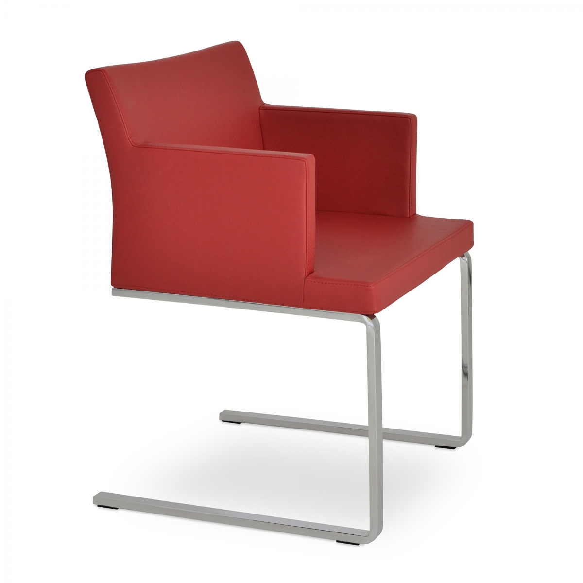 Soho Arm Guest Chair, Flat & Slide Frames