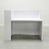 Austin Left Cabinet  Reception desk is shown here with a all White Gloss Laminate Base and Toe - kick.