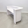 Austin Curved Round Reception Desk with a White Gloss Laminate