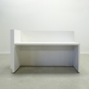 Dallas L Shape reception desk is shown here with a all White Gloss Laminate Base and Toe - kick.