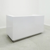 Dallas reception desk U shape is shown here with a White Gloss Laminate Base and Toe-kick.