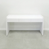 Aspen Console Table is shown here with a White Gloss Laminate Base, with out Top glass.