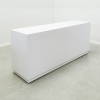 Houston Custom Reception Desk  is shown here with a white gloss Laminate.