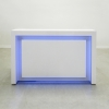 New York Reception Desk in White Glass Laminate (FRONT)