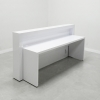 New York Reception Desk in White Glass Laminate (SIDE BACK)
