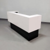 San Francisco U Shape reception desk is shown here with a Black Gloss Laminate Base and a White Gloss Laminate Counter.