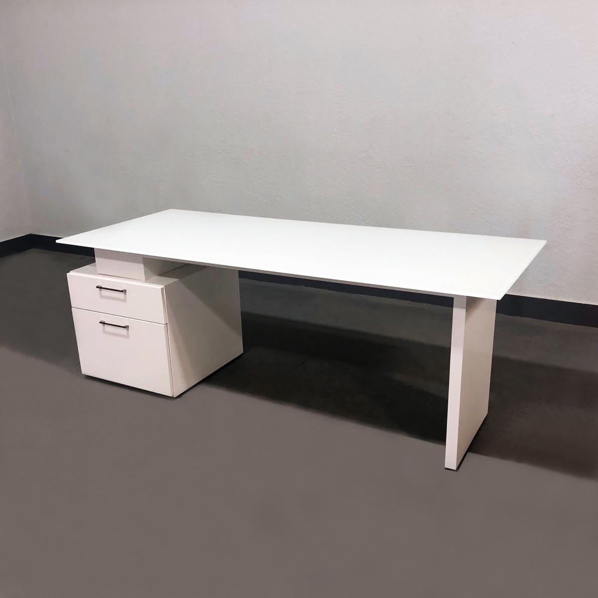 Avenue Straight Glass Executive Desk