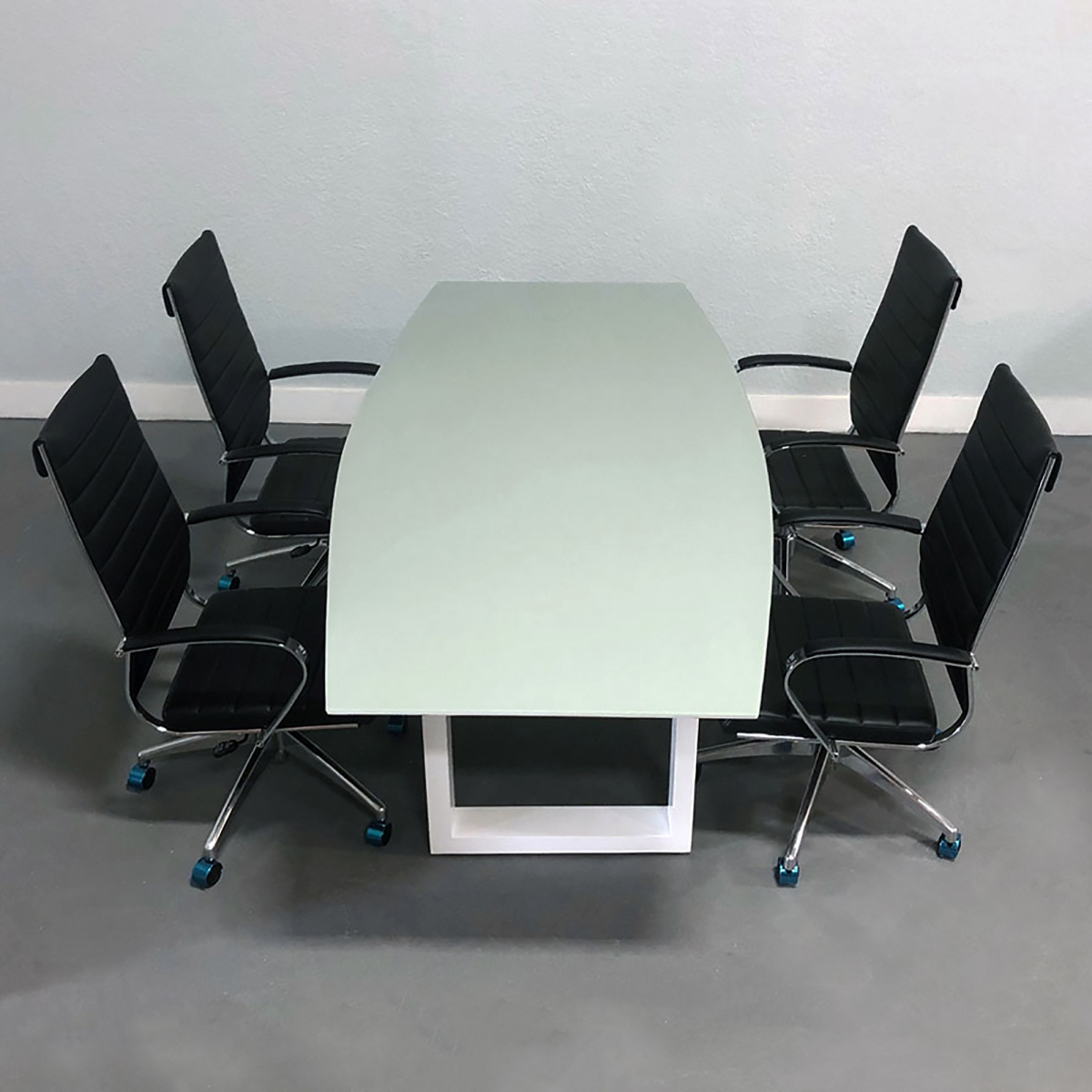 Axis Boat Shape Glass Meeting Table