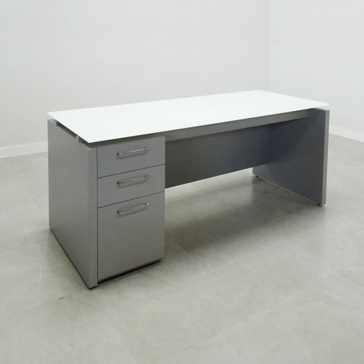 Denver Glass Top Desk