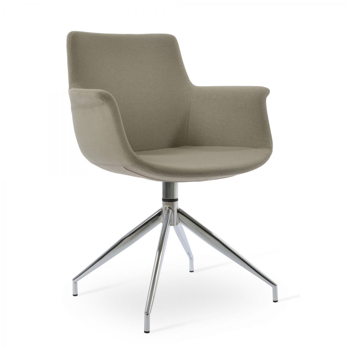 Bottega Arm Spider Swivel Guest Chair,
