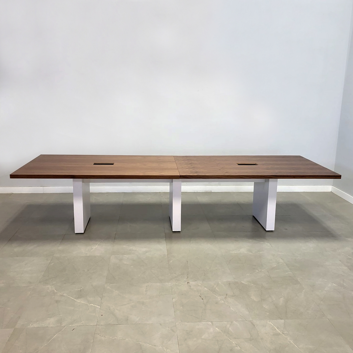 Axis Conference Table with Walnut Veneer Top