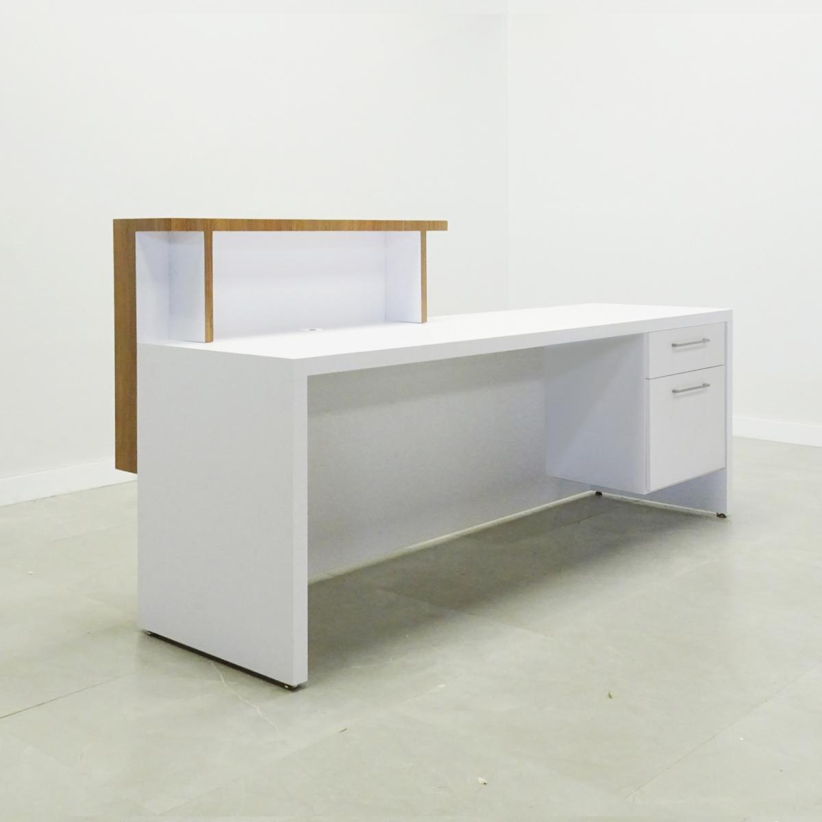 84 In. Los Angeles Reception Desk with Storage