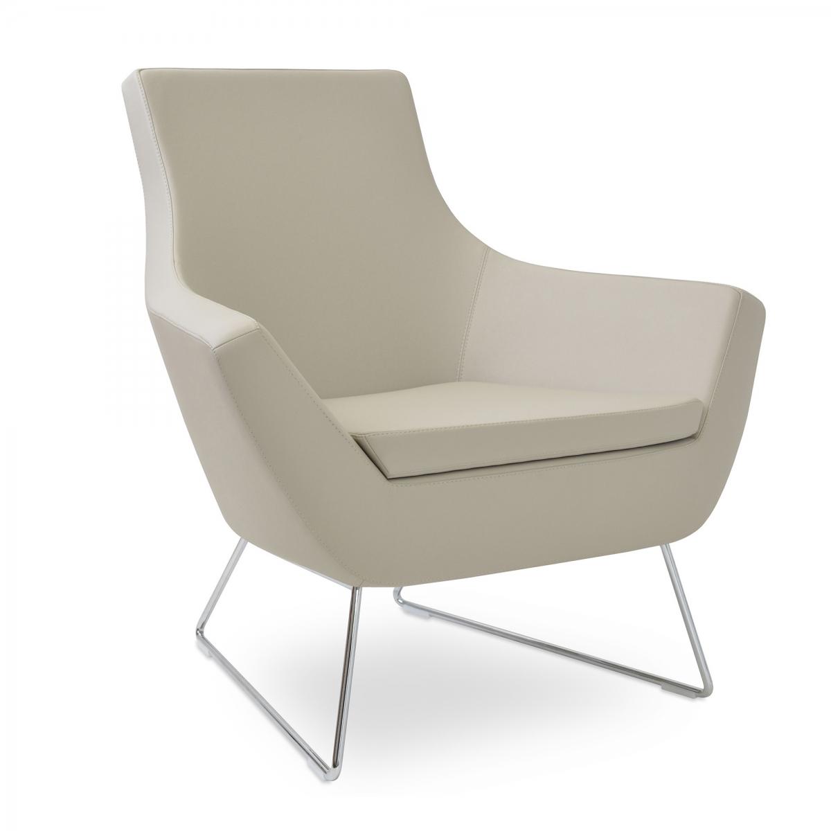 Rebecca Lounge Chair, Wire Base