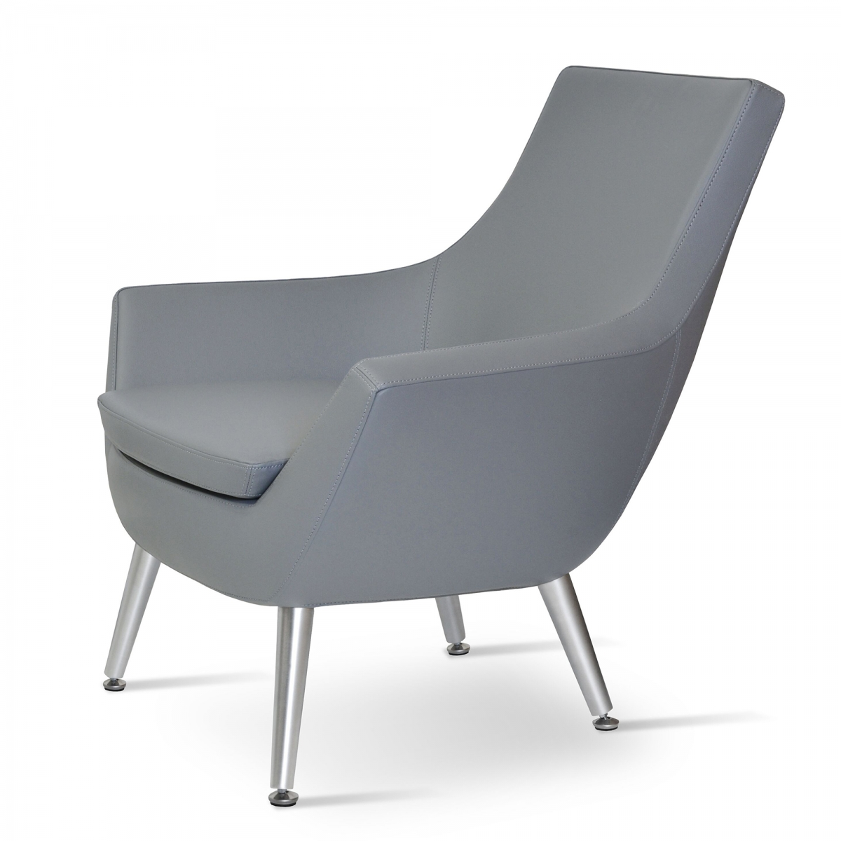 Rebecca Lounge Chair, Metal Legs